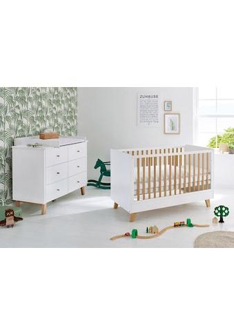 Pinolino® Babymöbel-Set »Pan«, (Spar-Set, 2 St.), extrabreit; mit Kinderbett und... kaufen
