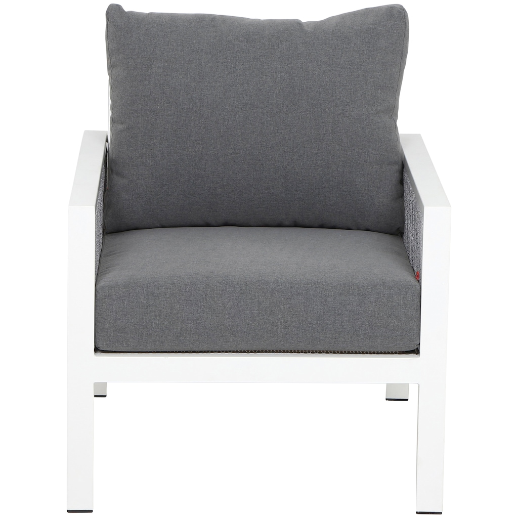 Siena Garden Loungeset »Varina«, (1x Lounge 3er Sofa, 2x Loungesessel, 1x Loungetisch)