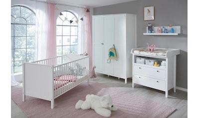 Babyzimmer-Komplettset »Westerland«, (Set, 4 St.), Bett + Wickelkommode + 3 trg.... kaufen
