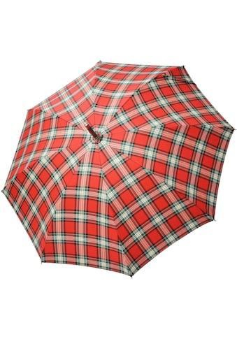 doppler MANUFAKTUR Stockregenschirm »Zürs, kastanie karo«, handgemachter Manufaktur-Stockschirm kaufen