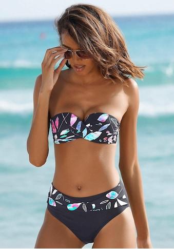 Sunseeker Bügel-Bandeau-Bikini-Top »Leaves«, mit modischem Blätterdruck kaufen