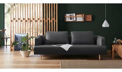 hülsta sofa 4-Sitzer »hs.440«, wahlweise in Stoff oder Leder, Fuß Eiche natur kaufen