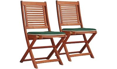MERXX Gartenstuhl »Cordoba«, 2er Set, Eukalyptus, klappbar, braun, inkl. Wendeauflage kaufen