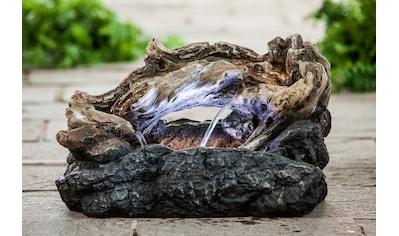 HEISSNER Set: Gartenbrunnen »WOOD LED«, BxTxH: 53x28x33 cm kaufen