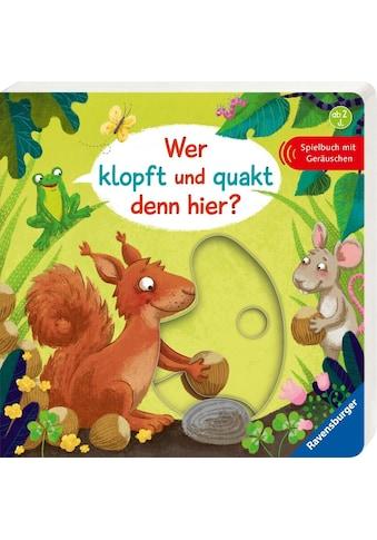 """Ravensburger Buch """"Wer klopft und quakt denn hier?"""" kaufen"""