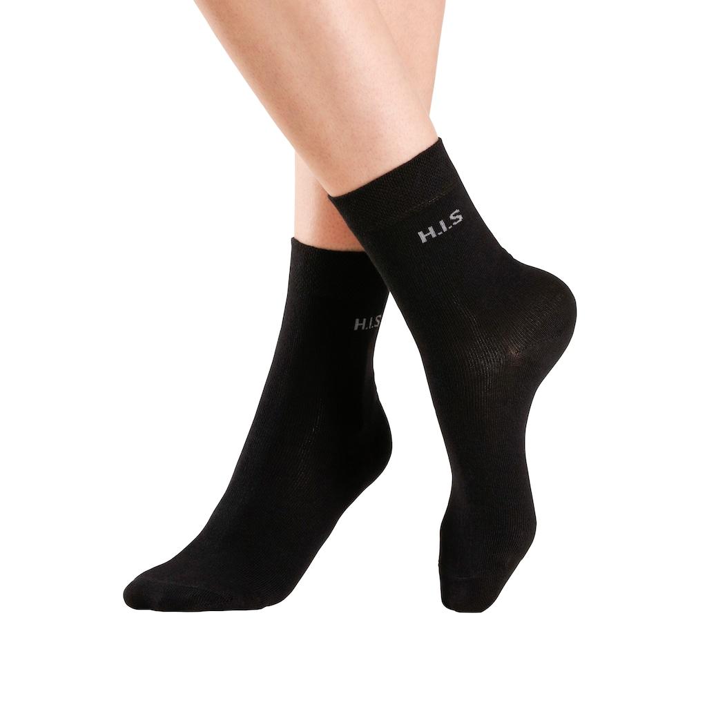 H.I.S Socken, (4 Paar), ohne einschneidendes Bündchen