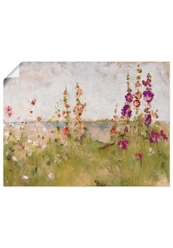 Artland Wandbild »Stockrosen am Meer«, Blumen, (1 St.), in vielen Größen &... kaufen