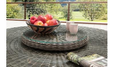 DESTINY Glastisch »Luna«, Polyrattan, Ø 58 cm, passend für Destiny Luna Tisch kaufen