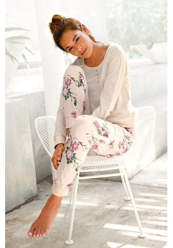 Buffalo Pyjama, mit Blumenprint in N-Größen kaufen