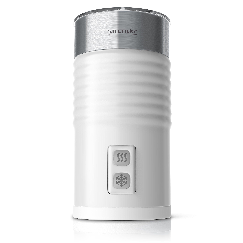 Arendo Milchaufschäumer mit Warm- und Kaltaufschäumen »MILKLOUD White« | Küche und Esszimmer > Kaffee und Tee > Milchaufschäumer | ARENDO