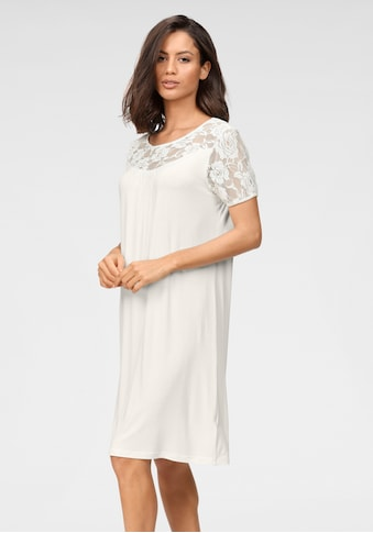 Cybèle Nachthemd, mit Spitze an Ärmeln und Ausschnitt kaufen