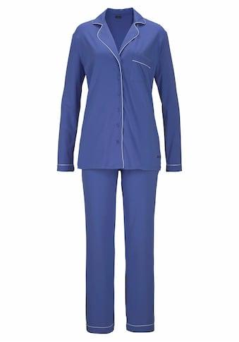 LASCANA Pyjama, in klassischem Design mit Hemdkragen und Knopfleiste kaufen