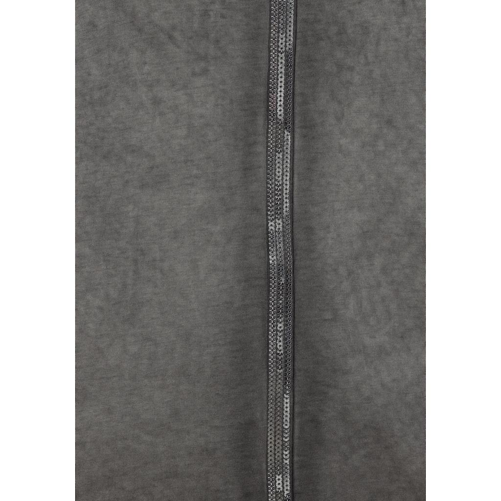 Boysen's Langarmshirt, mit Paillettenstreifen