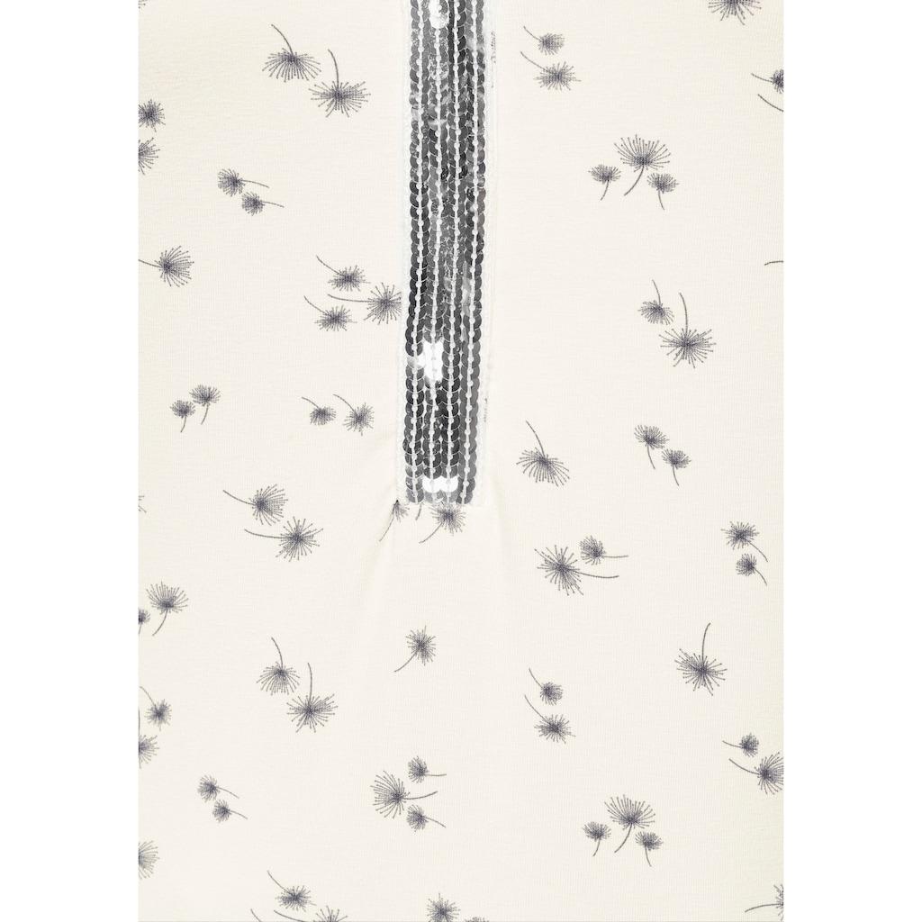 Laura Scott Langarmshirt, mit Paillettenbesatz am Ausschnitt