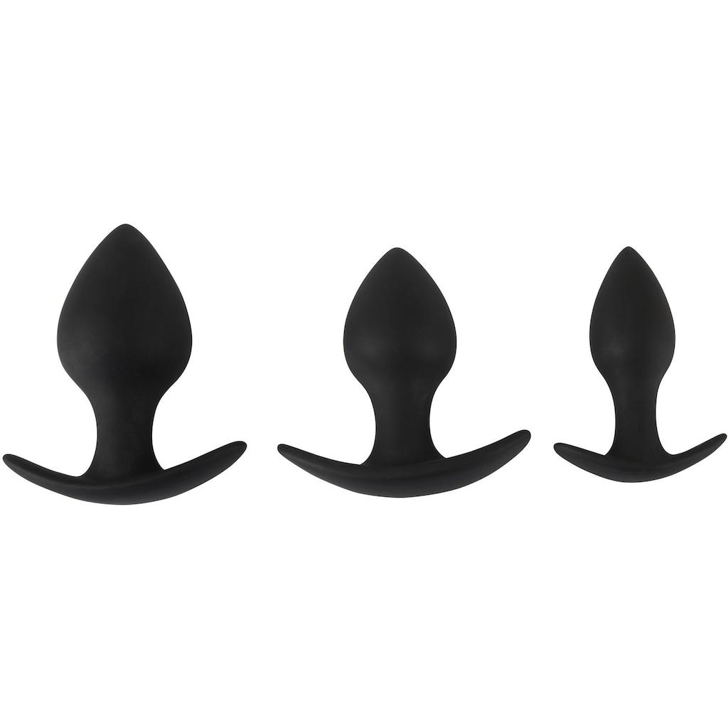 BLACK VELVETS Analplug, (Set, 3 tlg.), Ideal für Einsteiger
