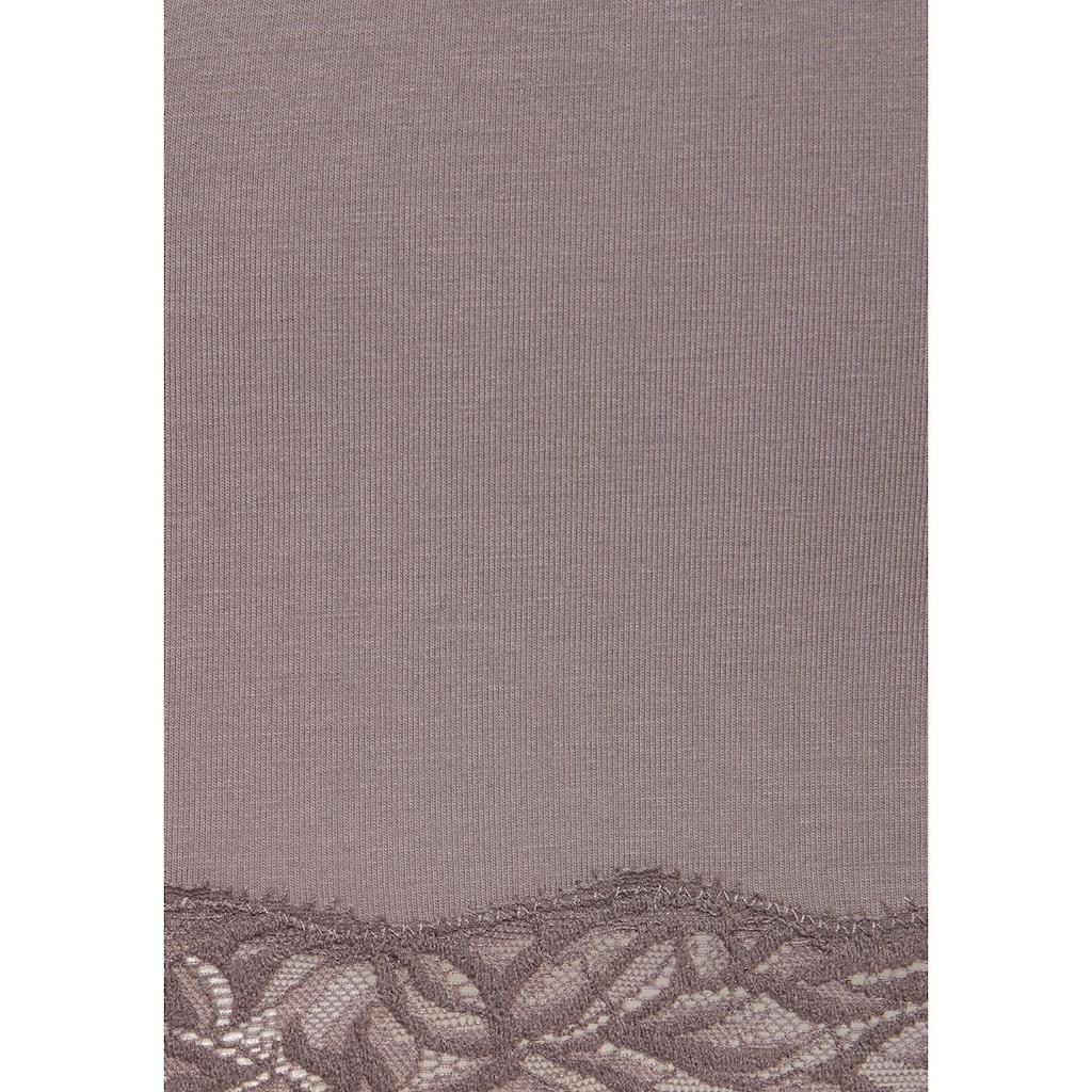 LASCANA Unterhemd, (2 St.), mit floraler Spitze