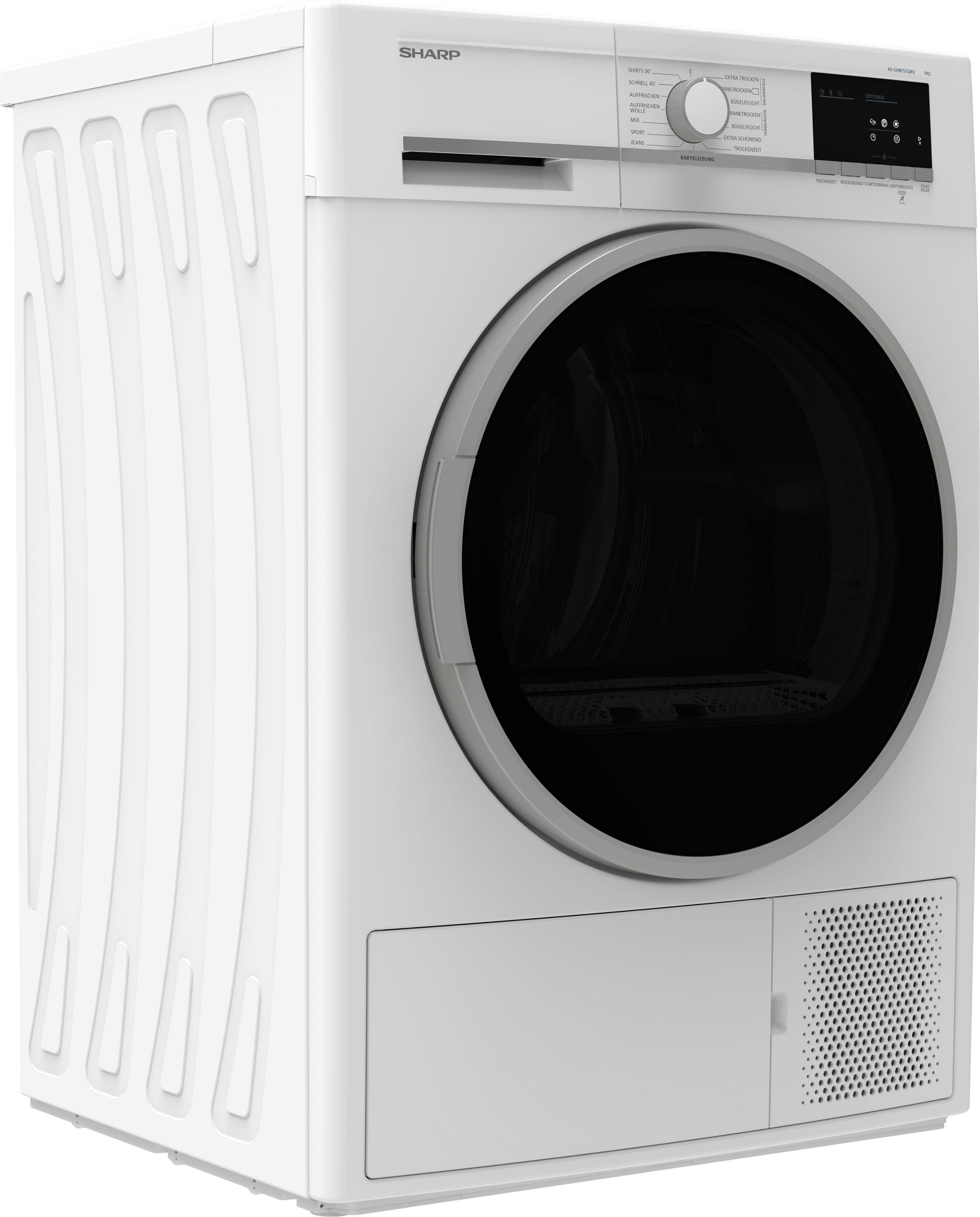 Sharp Wärmepumpentrockner KD-GHB7S7GW2-DE, 7 kg | Bad > Waschmaschinen und Trockner | Weiß | Sharp