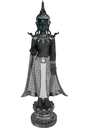 Casa Collection by Jänig Buddhafigur, stehend, schwarz-silber, Höhe 119 cm, Breite 44 cm kaufen