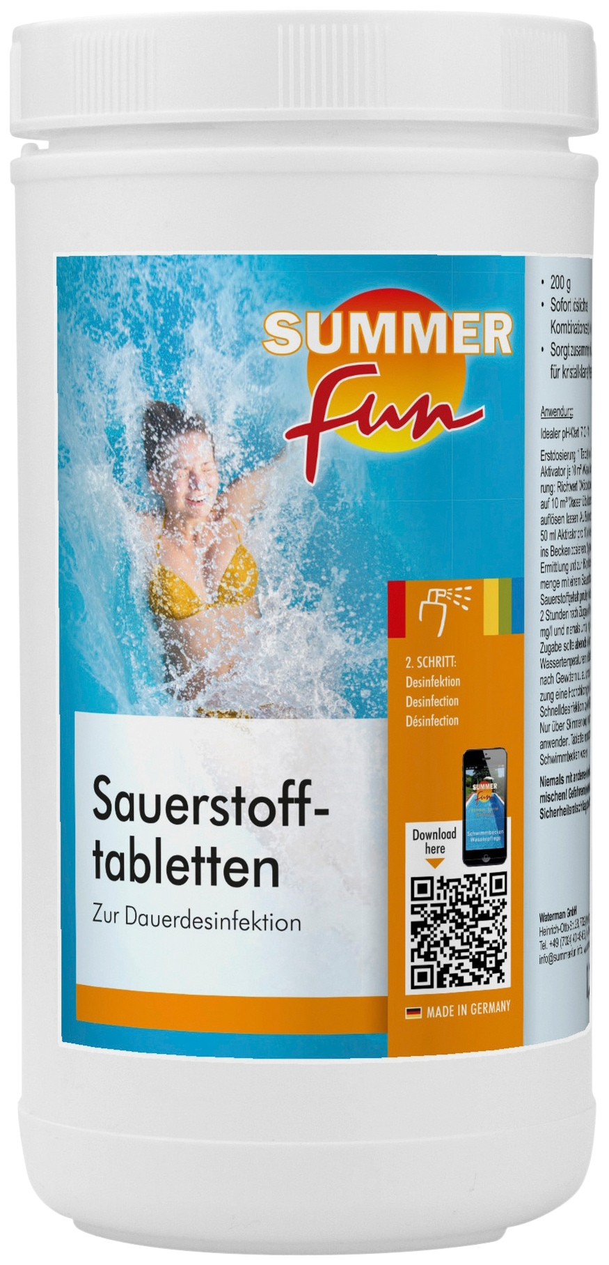 SUMMER FUN Wasserpflege »Sauerstofftabletten«, 1, 2 kg