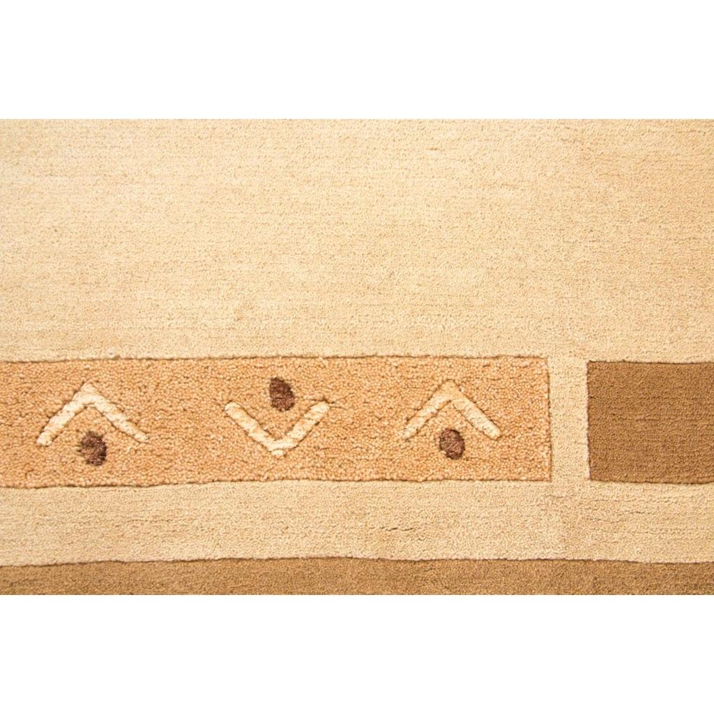 carpetfine Wollteppich »Nepal Jaipur«, rechteckig, 20 mm Höhe, reine Wolle, handgeknüpft, Wohnzimmer