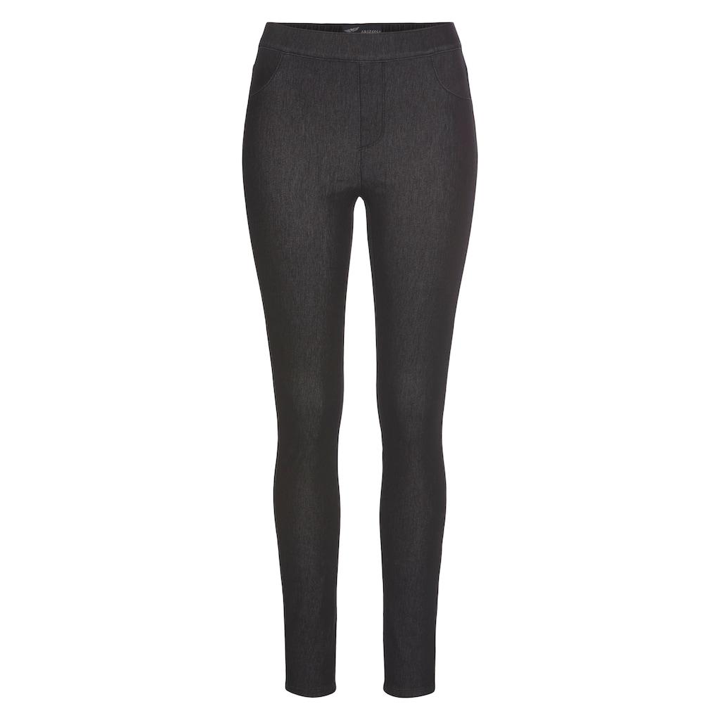 Arizona Jogg Pants »High Waist«, in Denim-Optik