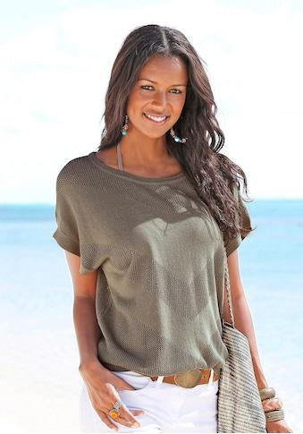 LASCANA Strandpullover, aus Ajourstrick kaufen
