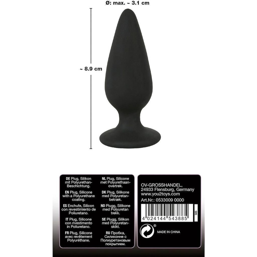 BLACK VELVETS Analplug, mit Standfuß