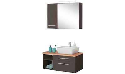 HELD MÖBEL Badmöbel-Set »Davos«, (3 tlg.), Spiegelschrank mit extra Regal kaufen