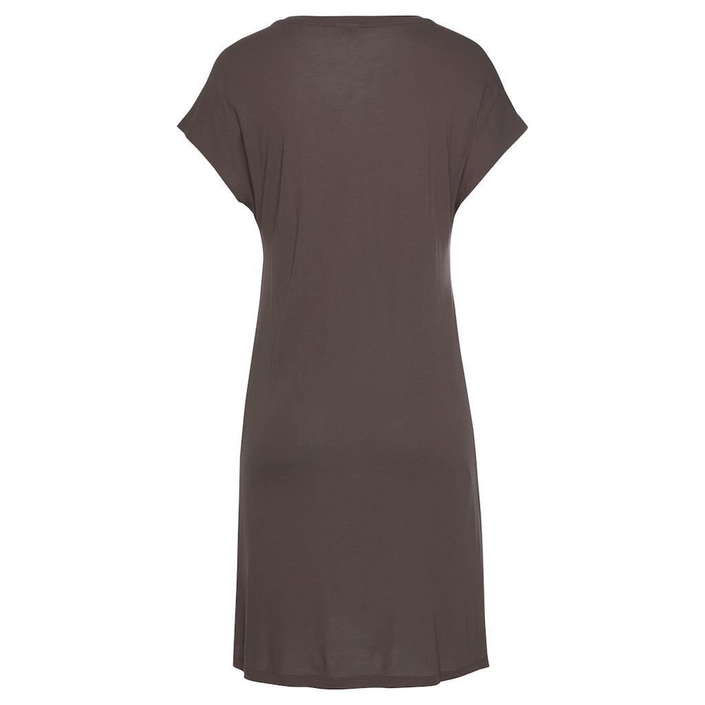 LASCANA Nachthemd, mit leicht überschnittenen Schultern