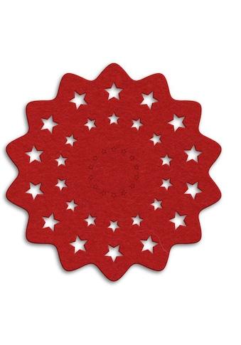 Wall-Art Tischdecke »Rote Weihnachtsbaumdecke Sterne«, (1 St.) kaufen