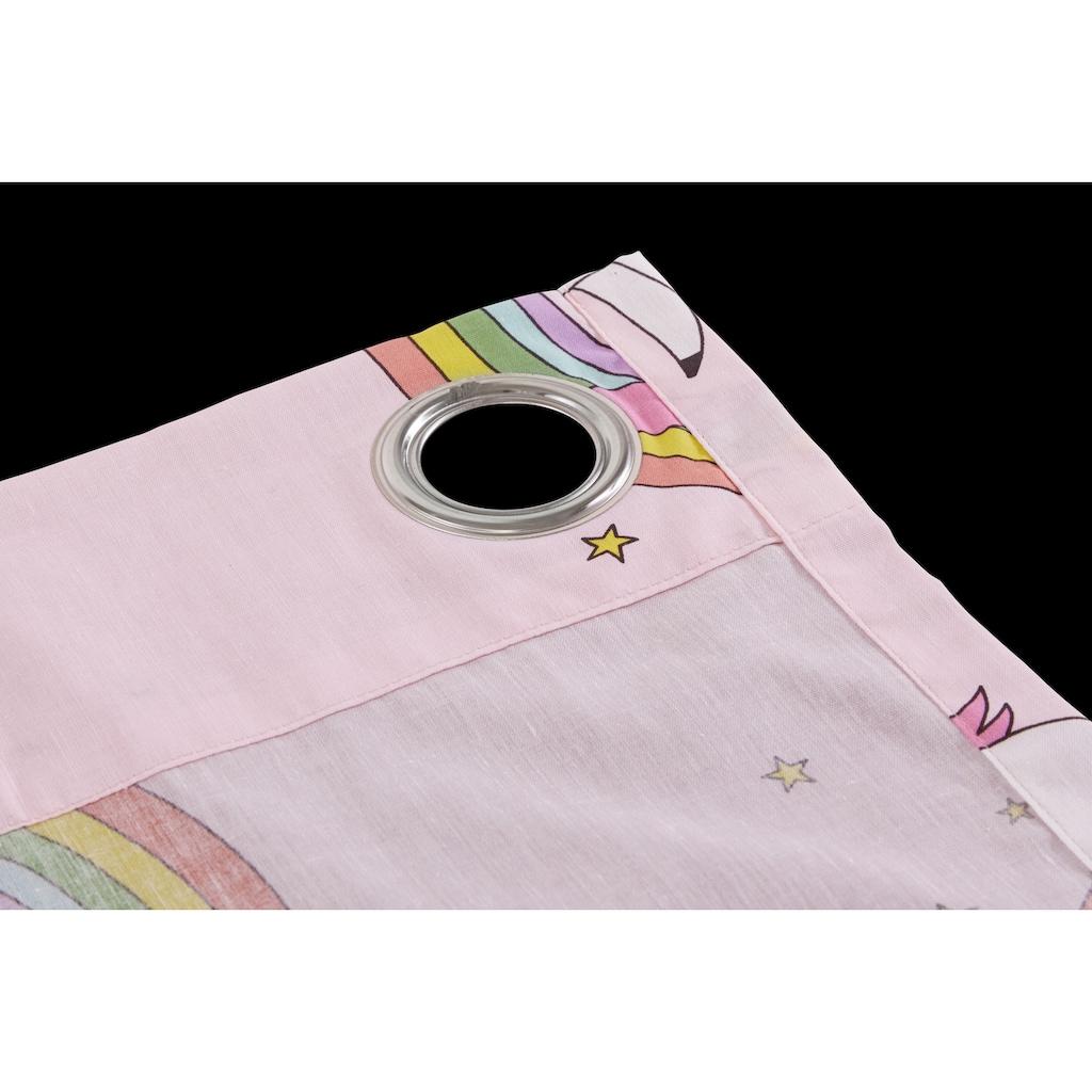 Lüttenhütt Gardine »Einhorn«, Nachhaltige Kindergardine