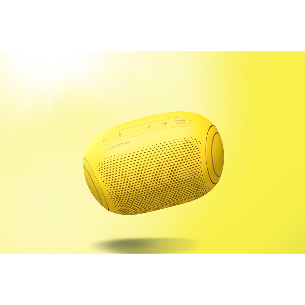 LG In-Ear-Kopfhörer »FN4  Macaron Jellybean Hardbundle«, Bluetooth, Sprachsteuerung-Noise-Reduction-LED Ladestandsanzeige-True Wireless, + Bluetooth-Speaker (UVP 69,99) + Macaron Case (UVP 9,99)