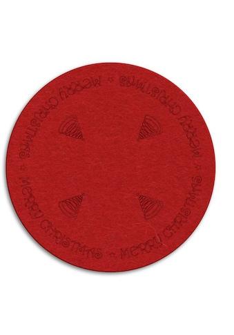 Wall-Art Tischdecke »Rote Weihnachtsbaumdecke Rund«, (1 St.) kaufen
