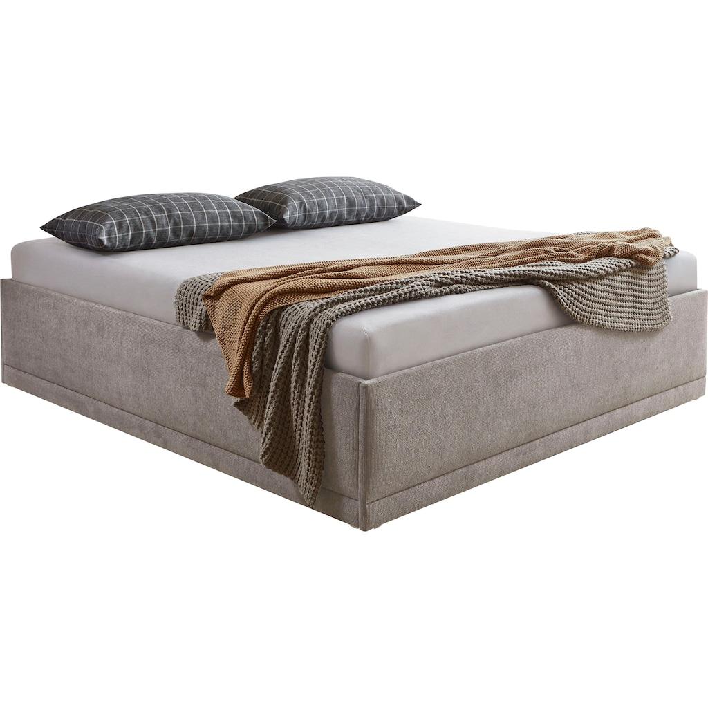 Westfalia Schlafkomfort Polsterbett »Texel«, Komforthöhe mit Zierkissen, inkl. Bettkasten bei Ausführung mit Matratze