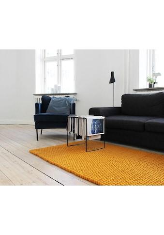 Wooldot Wollteppich »Uni Color«, rechteckig, 23 mm Höhe, Filzkugel-Teppich, reine... kaufen