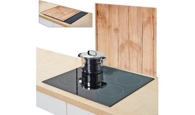 """Zeller Present Herdblende - /Abdeckplatte """"Wood"""", Glas, (1 - tlg.) kaufen"""
