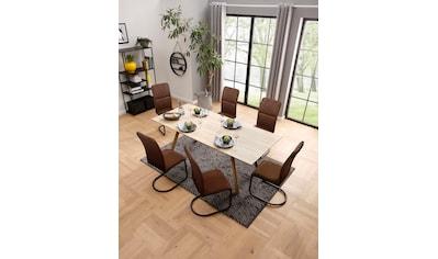 my home Freischwinger »Amabella«, in zwei Bezugsqualitäten und verschiedenen... kaufen