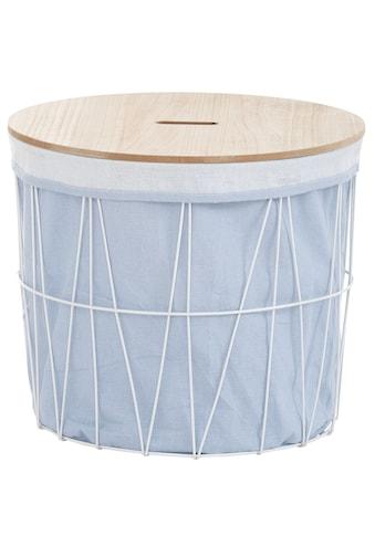 andas Wäschekorb »Vaxholm«, Ø ca. 46 cm, mit abnehmbarer Platte kaufen