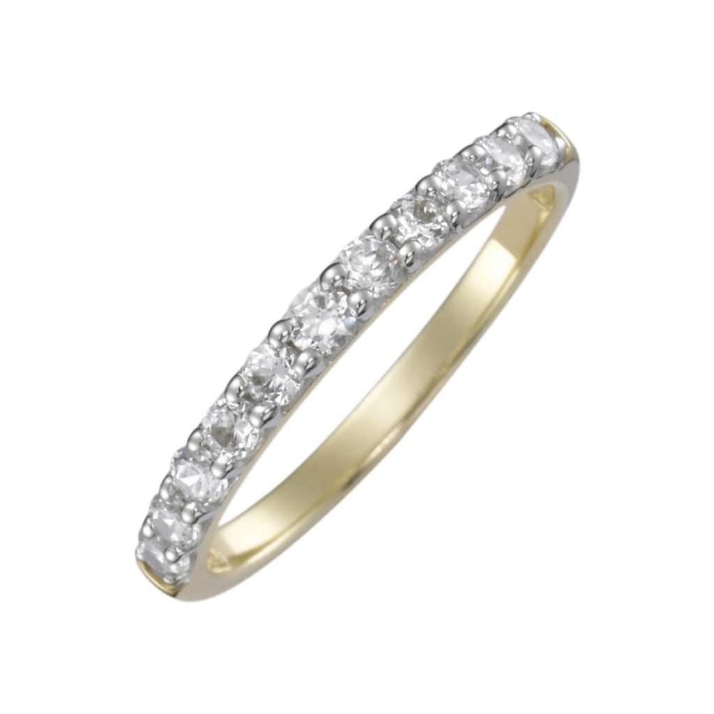Firetti Verlobungsring »Vorsteckring, Gelbgol, 2 mm breit«, mit Diamanten