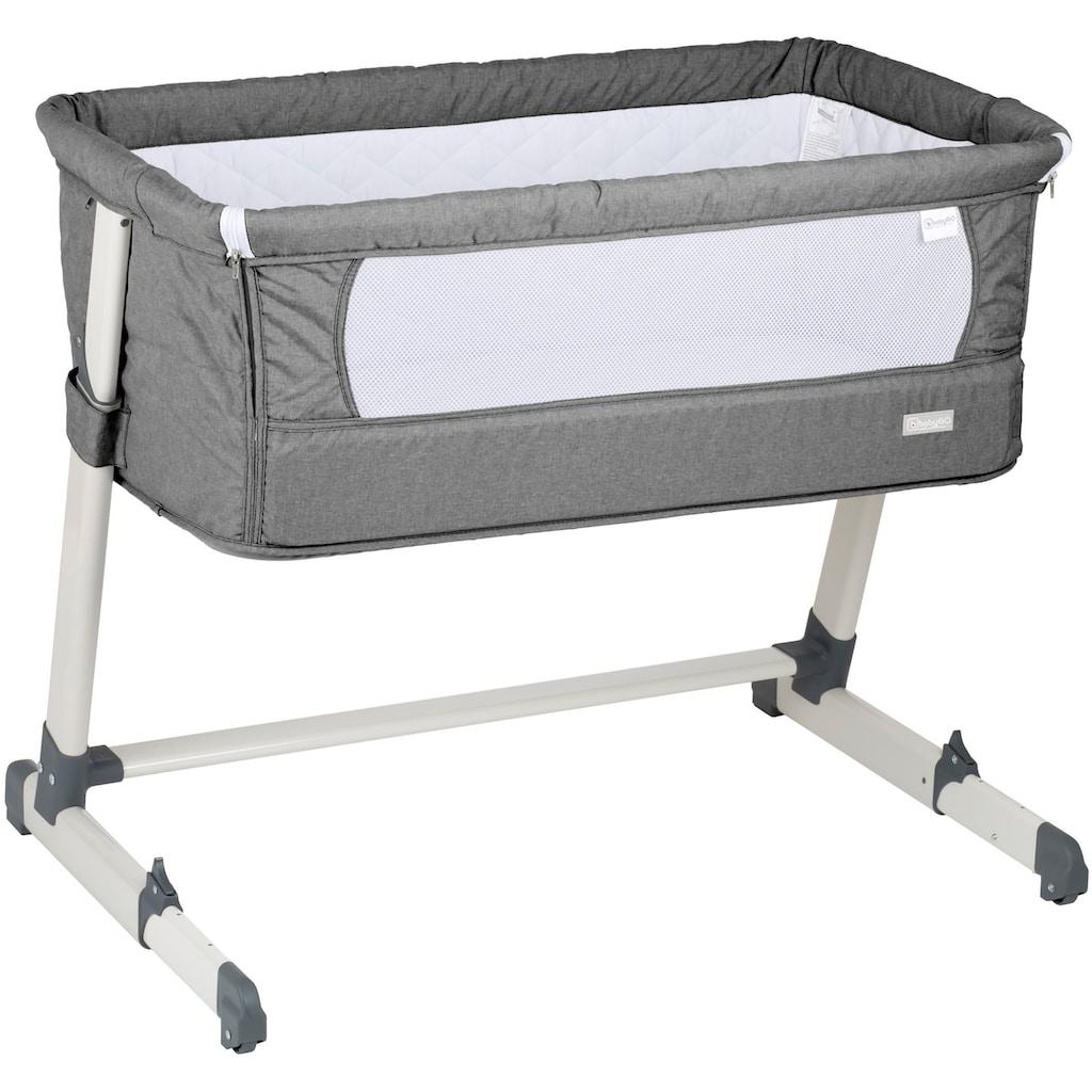 BabyGo Beistellbett »Together, grey«, faltbar