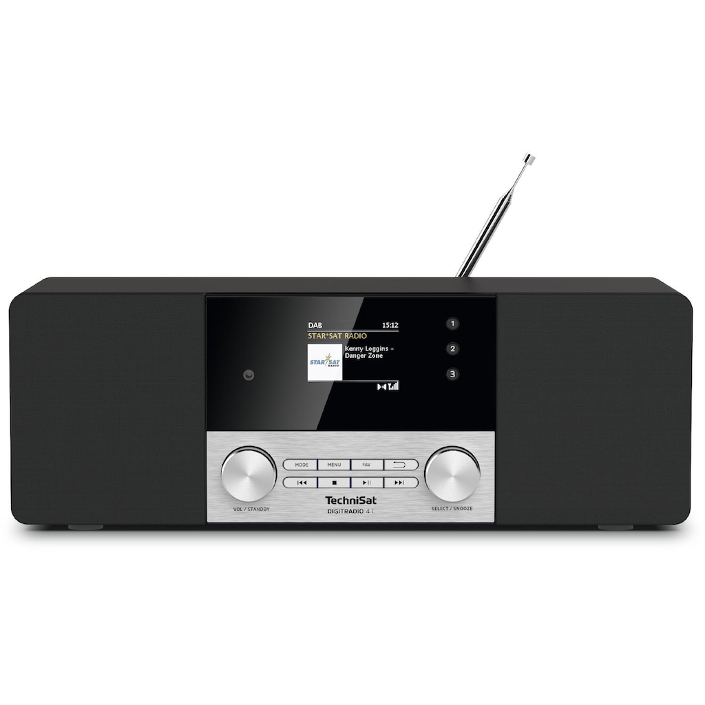 TechniSat Digitalradio (DAB+) »DIGITRADIO 4 C«, (A2DP Bluetooth-Bluetooth-AVRCP Bluetooth Digitalradio (DAB+) 20 W), Bluetooth-Audiostreaming Farbdisplay