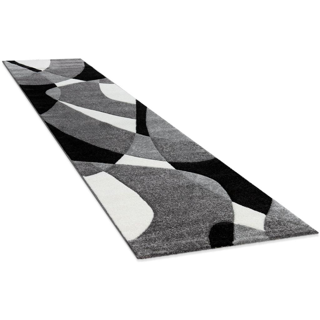 Paco Home Läufer »Diamond 664«, rechteckig, 18 mm Höhe, Teppich-Läufer, Kurzflor, gewebt, 3D-Design, mit geometrischem Muster