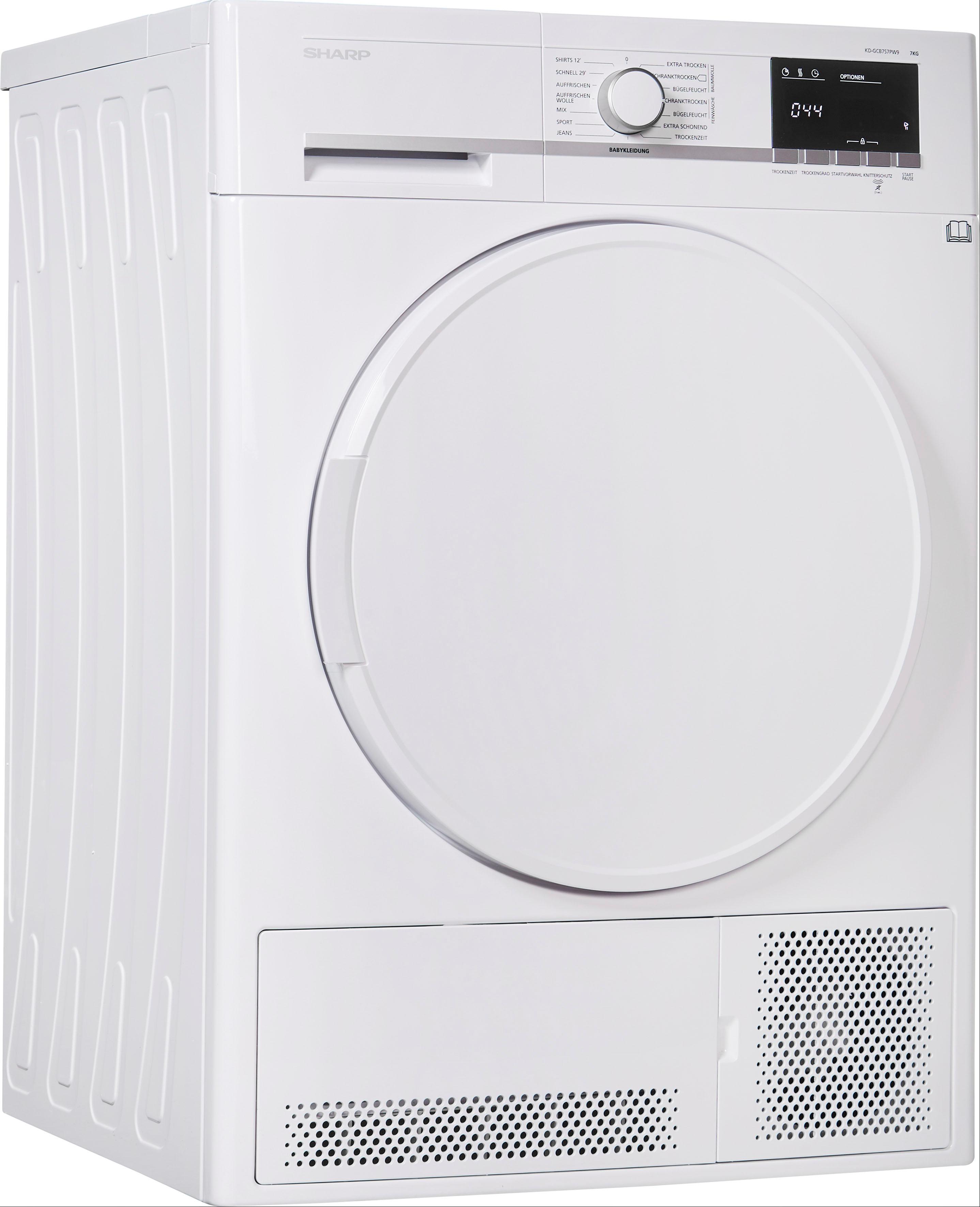 Sharp Kondenstrockner KD-GCB7S7PW9-DE, 7 kg   Bad > Waschmaschinen und Trockner > Kondenstrockner   Sharp