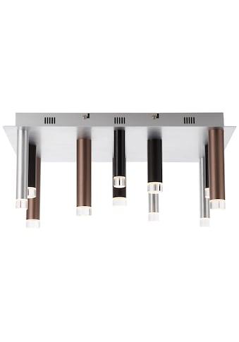 Brilliant Leuchten Cembalo LED Deckenleuchte eckig 12flg braun/Kaffee kaufen