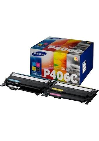 Samsung Tonerpatrone »Toner Kombi-Pack CLT-P406C, SU375A Schwarz, Cyan, Magenta, Gelb« kaufen