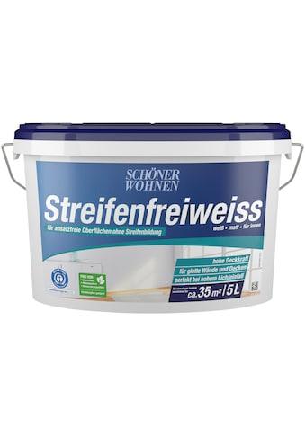 SCHÖNER WOHNEN-Kollektion Wand- und Deckenfarbe »Streifenfreiweiss«, weiß, matt, für... kaufen