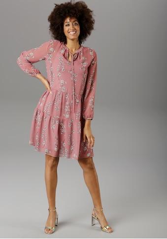Aniston SELECTED Chiffonkleid, im femininen Blumendruck kaufen