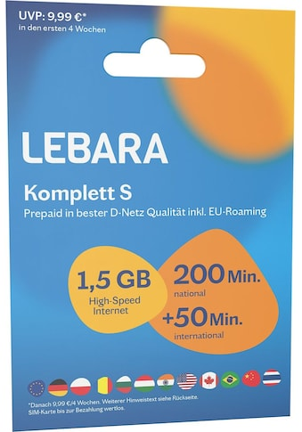 Lebara Prepaid Karte kaufen
