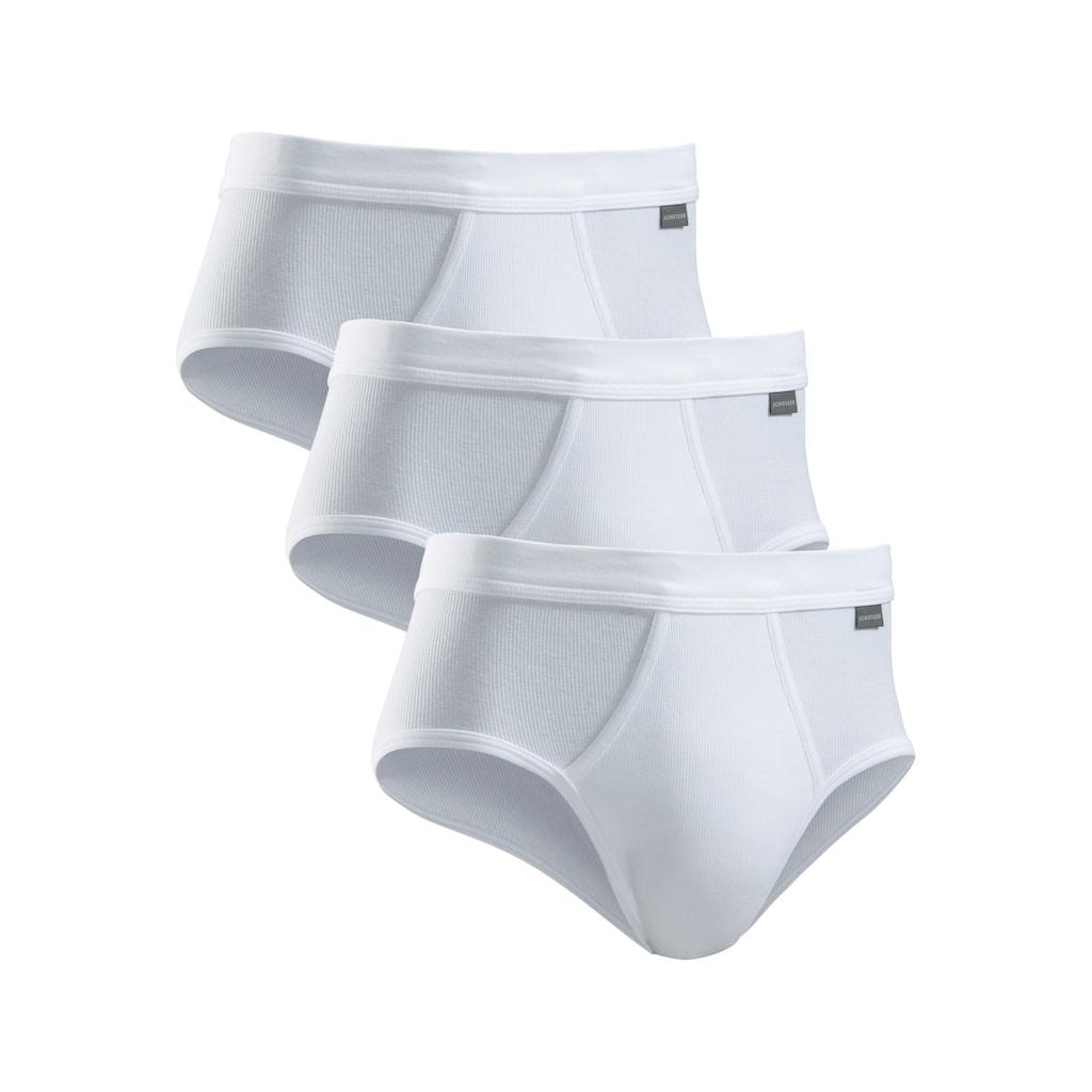 Schiesser Slip, (3 St.), schlichte Basic-Slips in Top-Markenqualtität