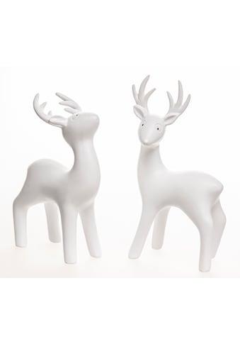 VALENTINO Wohnideen Tierfigur »Junus« (Set, 2 Stück, 1x Blick nach oben, 1x Blick seitwärts) kaufen